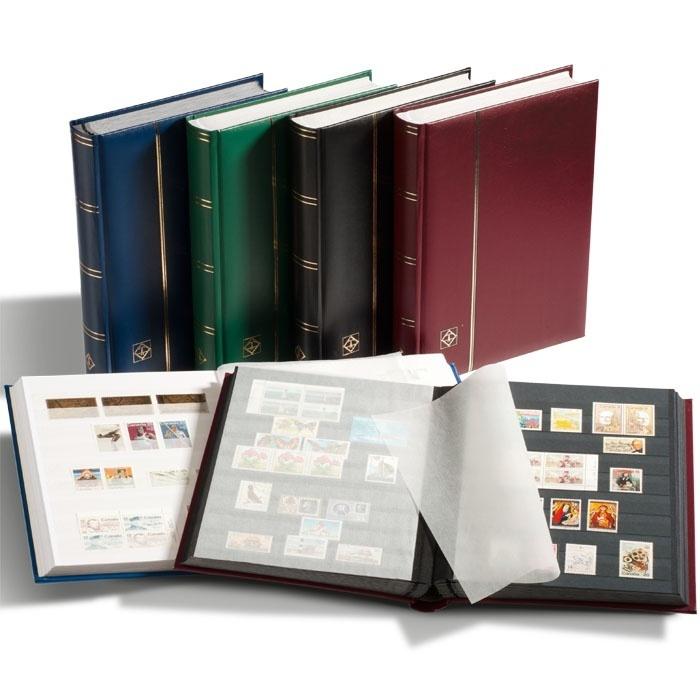 Кляссер для марок COMFORT A4, 32 ЧЕРНЫХ страницы, без шубера, зеленый