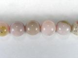 Бусина из опала розового, класс А, шар гладкий 10мм