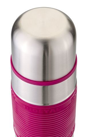 Термос Biostal Flër (1 литр) с силиконовой вставкой, розовый