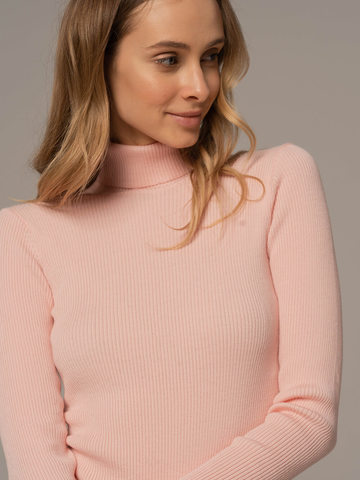 Женский свитер светло-розового цвета из 100% шерсти - фото 3