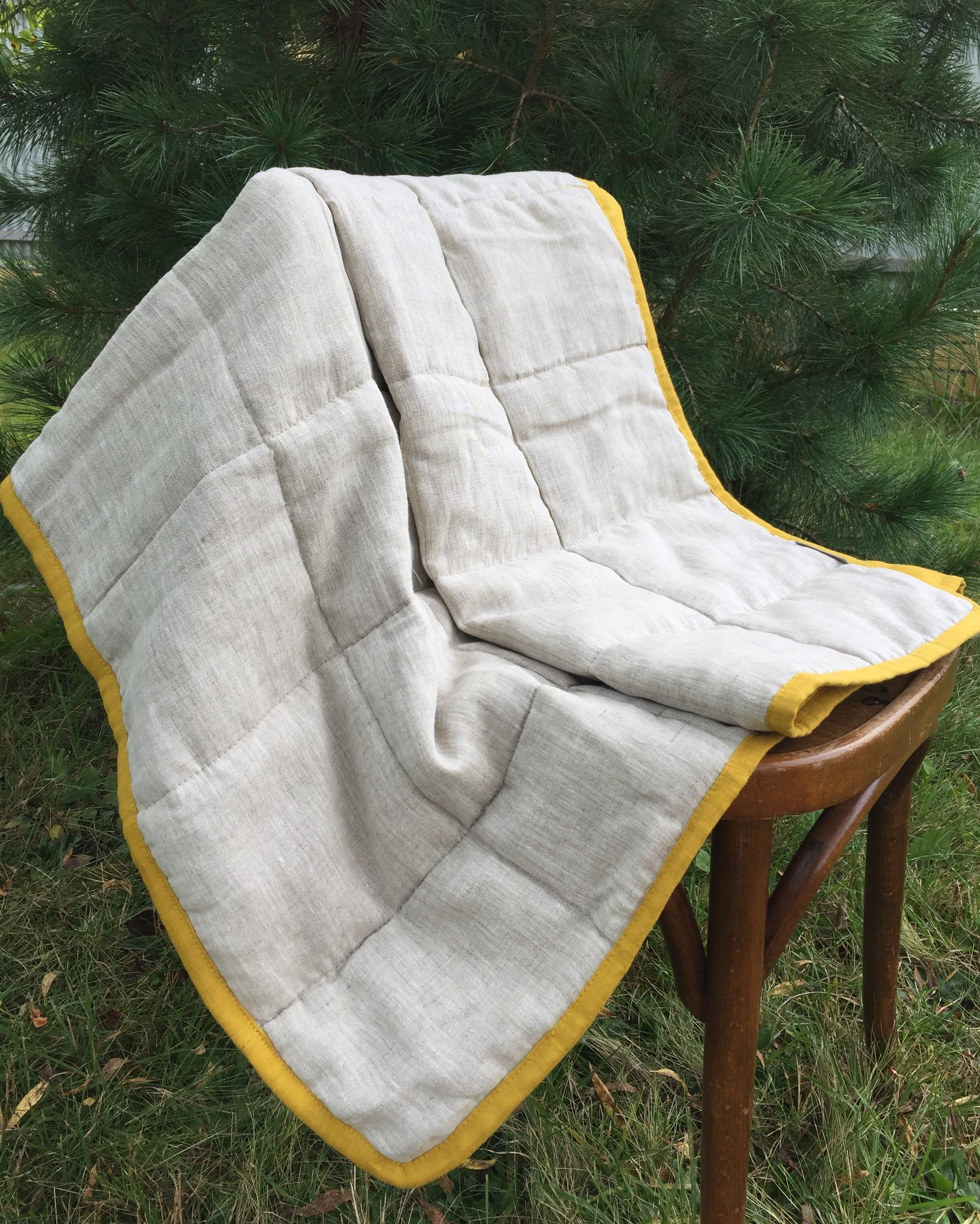 Льняное одеяло детское с льняным наполнителем