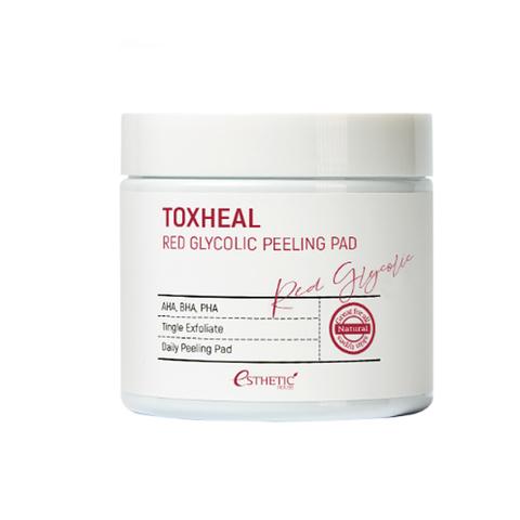 [ESTHETIC HOUSE] Пилинг-подушечки МИНДАЛЬНЫЕ Toxheal Red Glyucolic Peeling Pad, 100 мл (100 шт)
