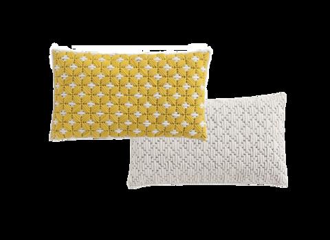 Подушка Silai Yellow - White 60x35