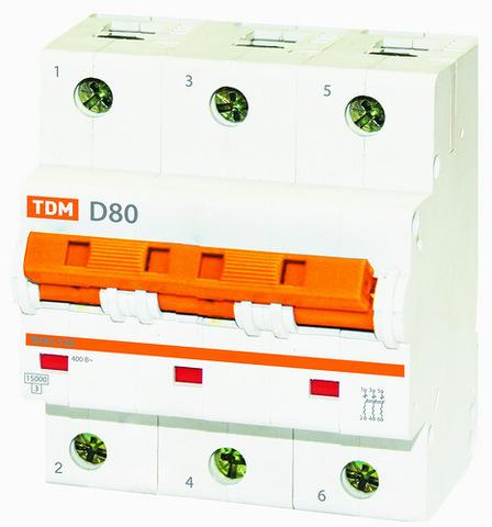 Авт. выкл. ВА47-125 3Р 100А 15кА х-ка D TDM
