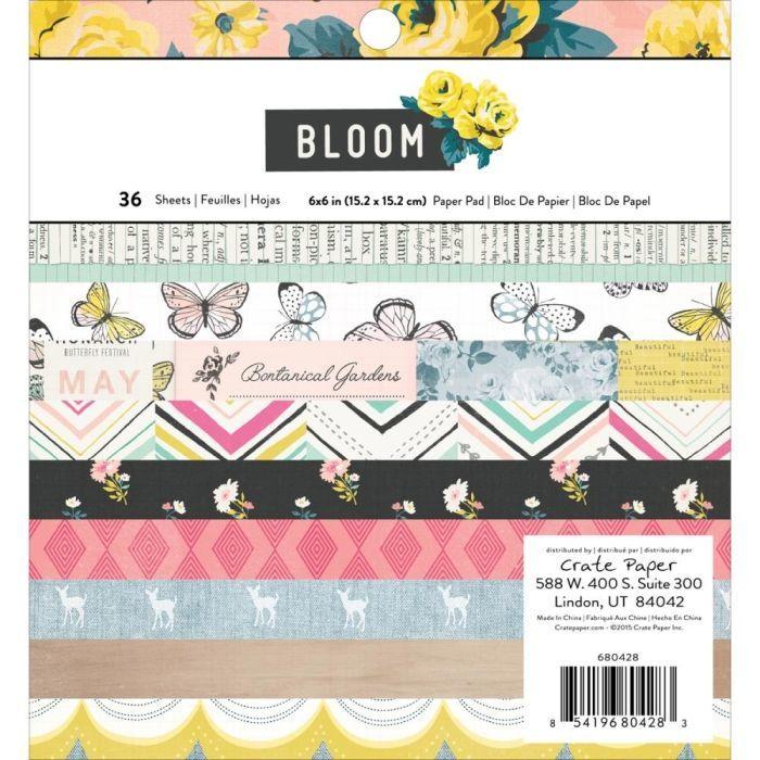 Набор односторонней бумаги Bloom Collection by Maggie Holmes 15х15см