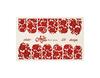 Фольга для дизайна ногтей цвет красный 58 купить за 120руб