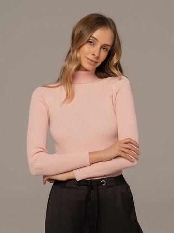 Женский свитер светло-розового цвета из 100% шерсти - фото 5