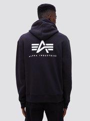 Толстовка Alpha Industries Small Logo Full-Zip Hoodie (Черная)