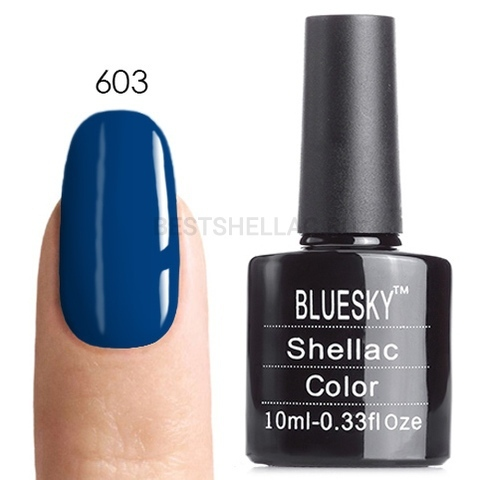 Bluesky Shellac 40501/80501 Гель-лак Bluesky № 40603/80603 Peacock Plume, 10 мл 603.jpg