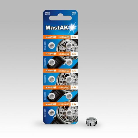 Батарейки MastAk AG 0 (379, LR521) 10 BL