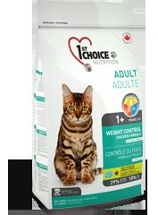 Корм для стерилизованных кошек и кастрированных котов, 1St Choice Контроль веса, с курицей