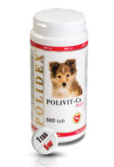 """POLIDEX """"Поливит-Кальций Плюс"""" улучшение роста костной ткани у щенков и собак мелких и средних пород"""