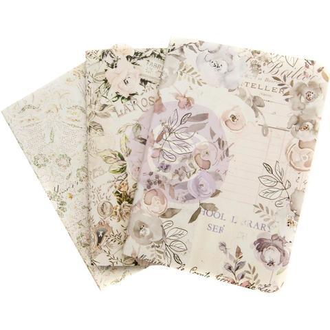 Набор внутренних блоков  (9х12,5 см) Prima Traveler's Journal Passport Refill Notebook -Lavender Frost -3 шт