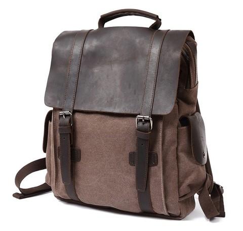 Рюкзак из кожи и ткани Bug 065 Coffee