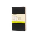 локнот Moleskine Pocket 90x140 мм 64 стр нелинованный 3 шт (QP313)
