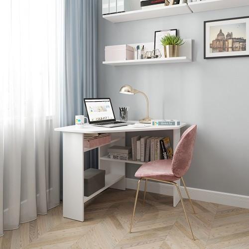 Угловой письменный стол ДОМУС СП011 белый