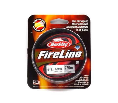 Плетеная леска Berkley Fireline Темно-серая 270 м. 0,10 мм. 5,9 кг. Smoke (1308615)