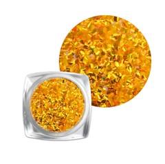 Чешуя для дизайна ногтей оранжевая