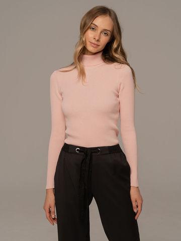 Женский свитер светло-розового цвета из 100% шерсти - фото 6