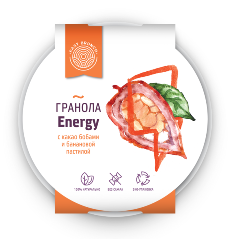 Гранола с какао бобами и бананом - Energy Fast Brunch 80г