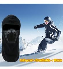 Шапка-балаклава из чистого хлопка (Спортивная маска) черная