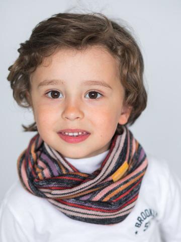 Детский снуд-горловинка из хлопка полосатый