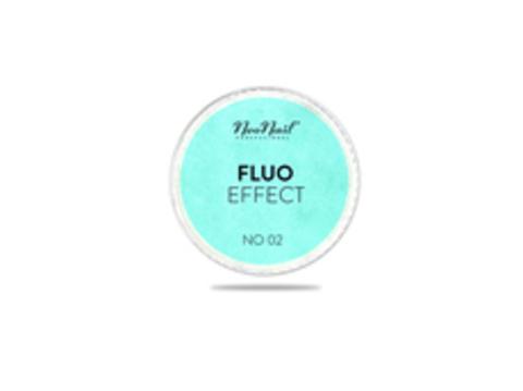 NeoNail Пудра Fluo Effect 02 - голубо-бирюзовый