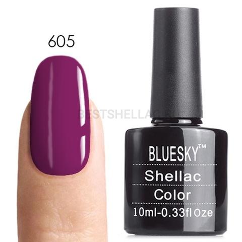 Bluesky Shellac 40501/80501 Гель-лак Bluesky № 40605/80605 (LV129) Rouge Rite, 10 мл 605.jpg