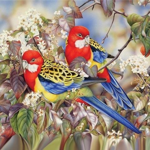 Райские птички - мозаичная картина, 404007