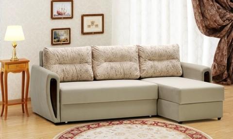 Угловой диван-еврокнижка Мекс 150, комплектация 8, бежевый