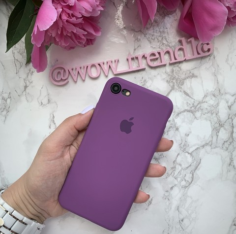Чехол iPhone 6S Silicone Slim Case /purple/