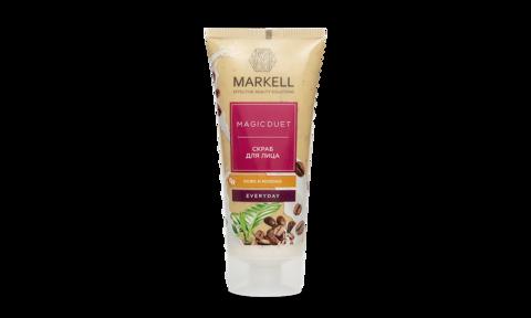 Markell MAGIC DUET СКРАБ для лица -кофе молоко 100мл