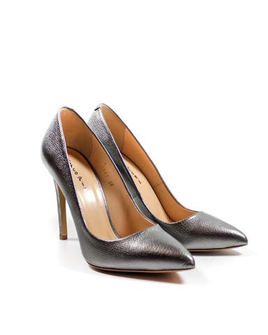 серебристые туфли Marco Pini