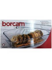 Кастрюля прямоугольная с крышкой 2,8 литра Borcam 59010 жаропрочная стеклянная форма для запекания 34х19х7 см