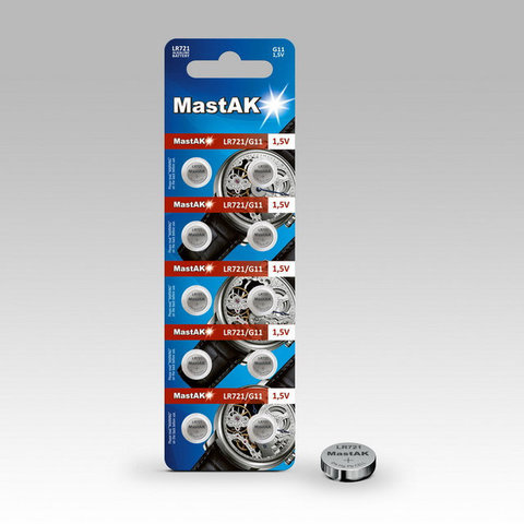 Батарейки MastAk AG 11 (362, LR721) 10 BL