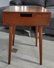 Cтолик кофейный квадратный, с ящиком Тёмный орех (MK-2378)