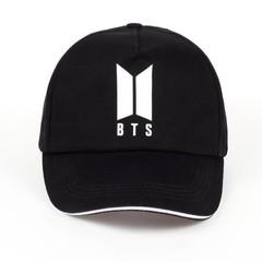 Кепка с логотипом BTS (Бейсболка БТС) черная 02