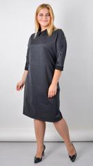 Доротея. Жіноча сукня великого розміру. Графіт.