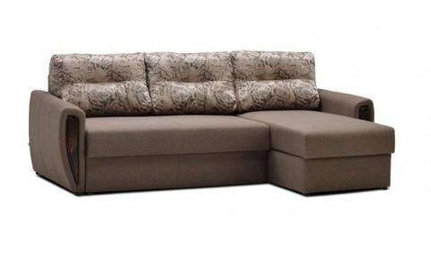 Угловой диван-еврокнижка Мекс 150, комплектация 8, коричневый