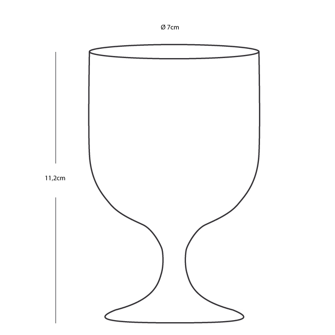 STACKABLE WATER/WINE GLASS -BLUE BASE, NORTHWIND