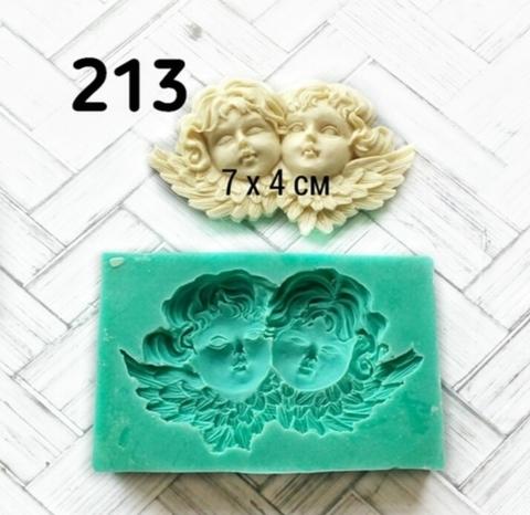 Молд Два ангела 7х4см, Арт.PO-0213, силикон