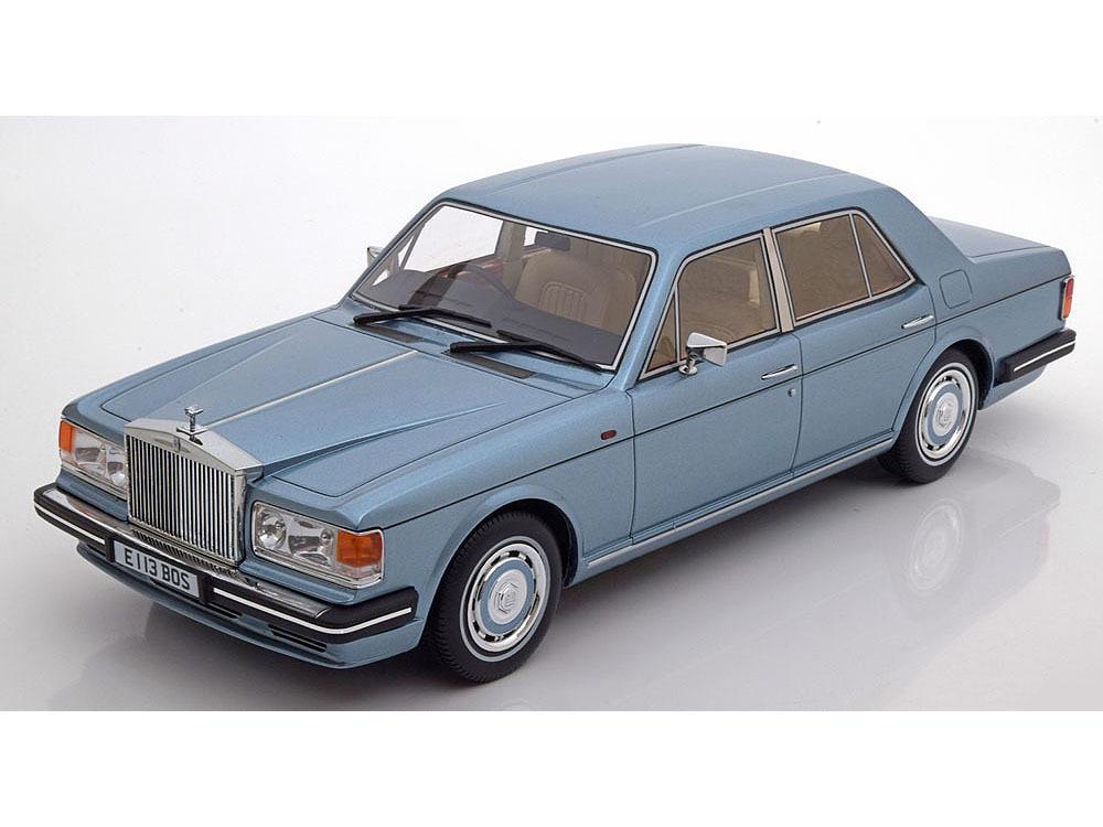 Коллекционная модель Rolls-Royce Silver Spirit RHD 1987 Light Blue Metallic