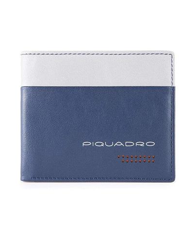 Кошелек Piquadro Urban, синий/серый, 11x9x1,5 см