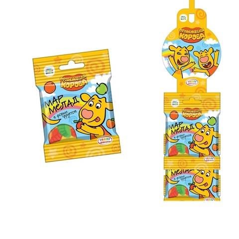 ОРАНЖЕВАЯ КОРОВА Мармелад жевательный Vitafruit фруктовое ассорти на страйп-ленте 1кор*8бл*24шт, 25г.