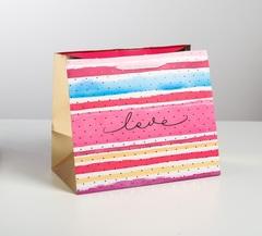 Пакет ламинированный Love, 30,5 × 25,5 × 18 см, 1 шт.