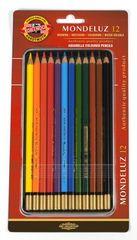 Набор художественных акварельных карандашей MONDELUZ 12 цветов в металлической коробке, защищенной блистером