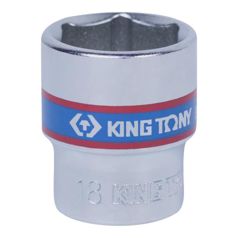 "Головка торцевая стандартная шестигранная 3/8"", 18 мм KING TONY 333518M"