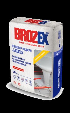 Наливной пол Brozex Нивелир медиум NF 415 20 кг
