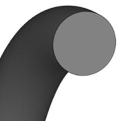 Кольцо круглого сечения O-Ring | 12,5 X 1 MM | 80 FKM FP801801 Black