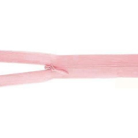 Молния потайная T3 40 см бледно-розовая